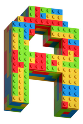 Lego Blocks Font on Yellow Images Creative Fonts