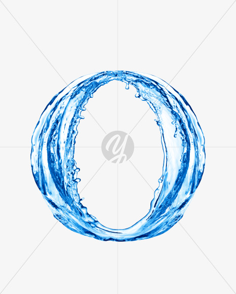 Water O uppercase