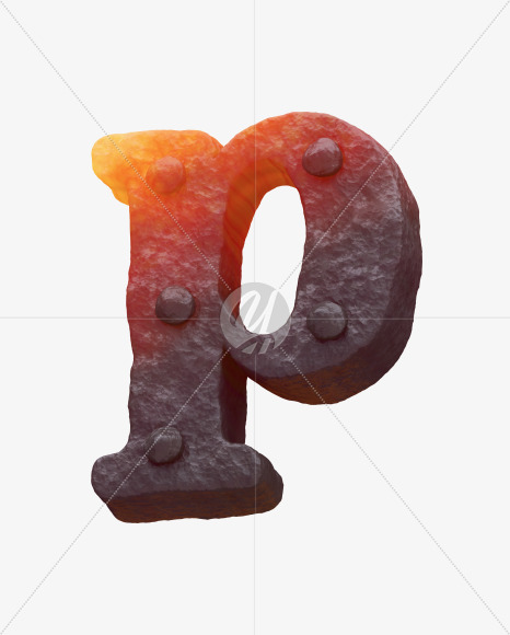 Iron p lowercase