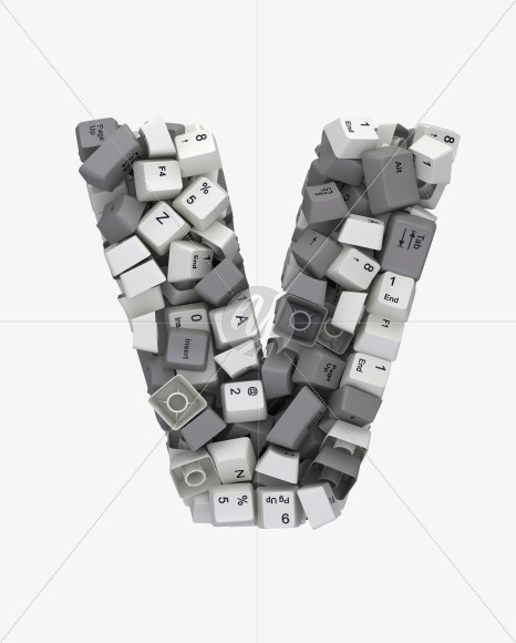 V white keyboard