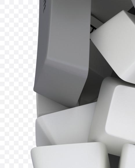 P white keyboard