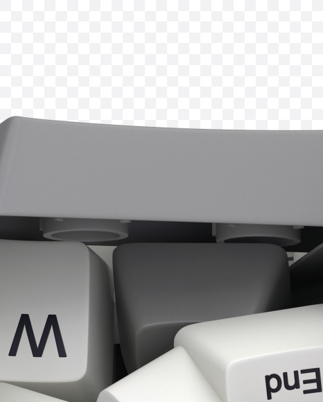 7 white keyboard