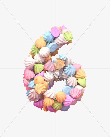 6 meringue