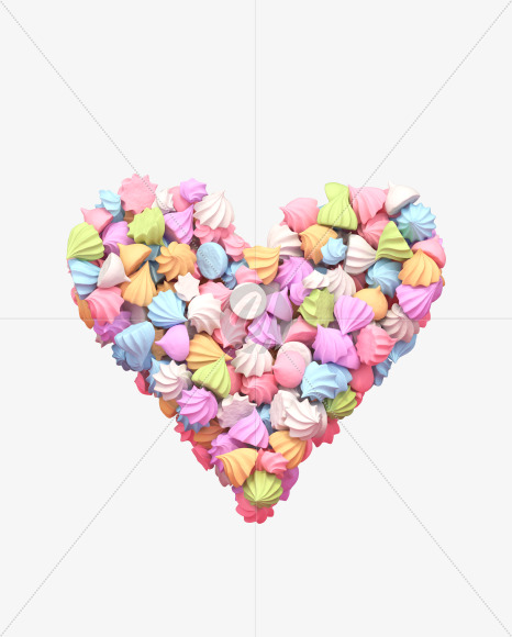 Heart meringue
