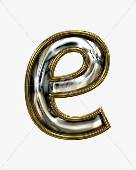 e lowercase
