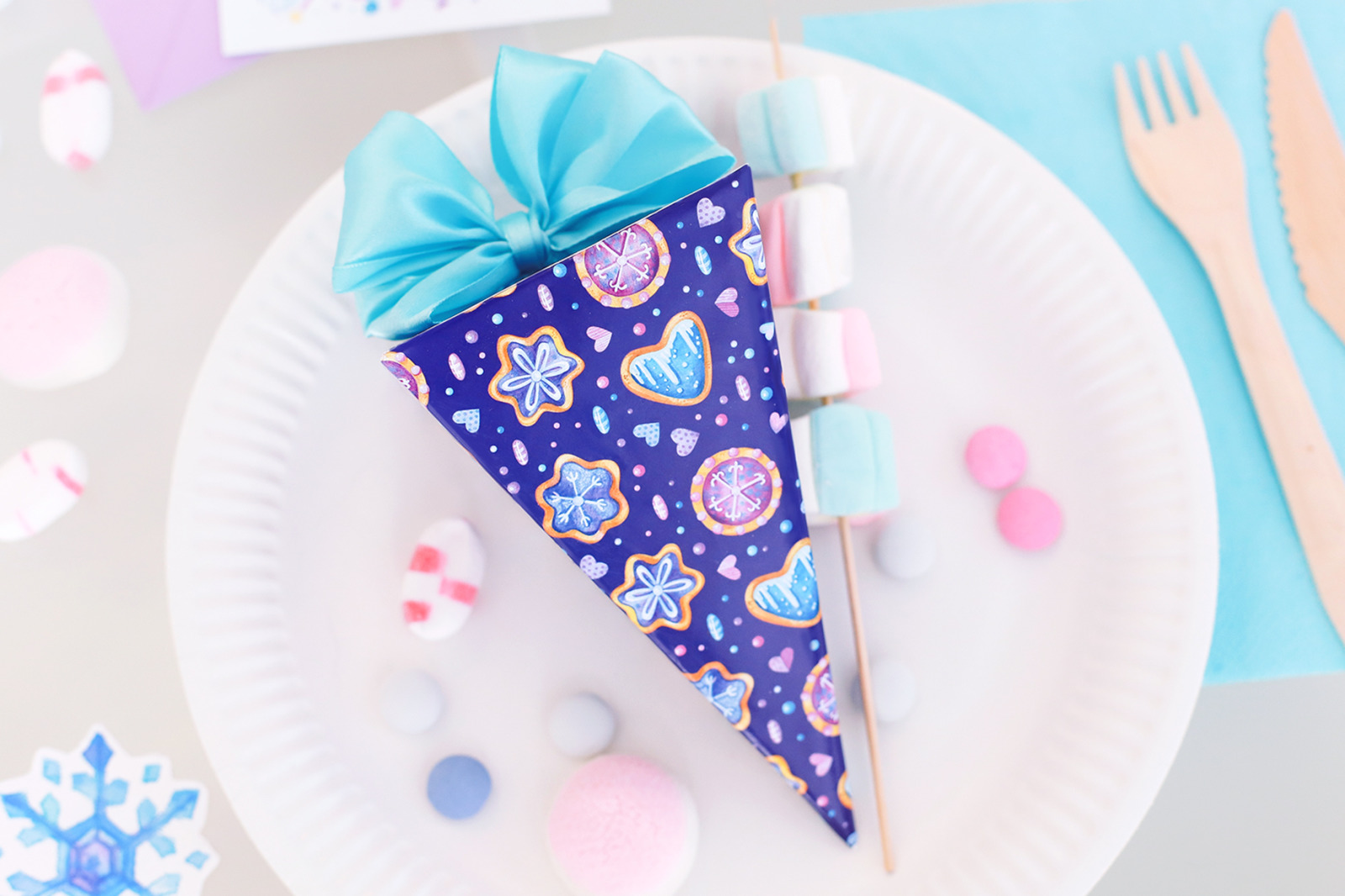 Winter clipart and birthday invitations templates. Frozen baking clipart,  ice cream clipart