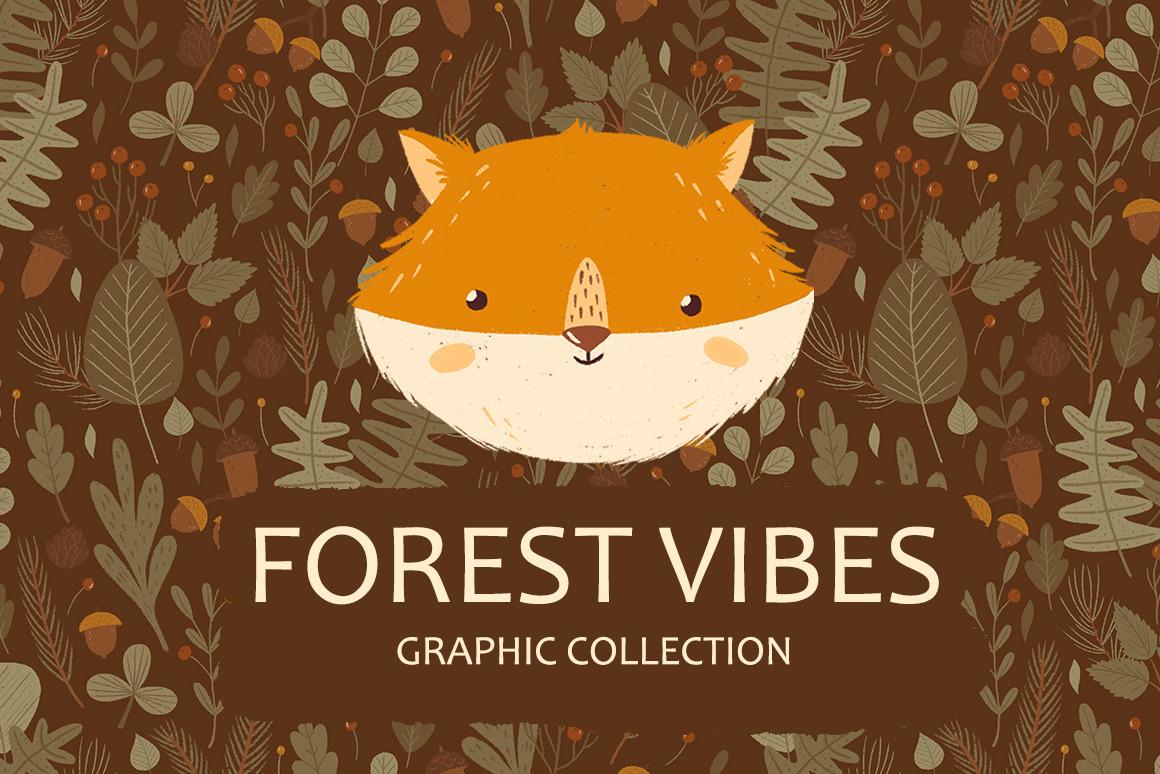 Forest Portrait Animals Set