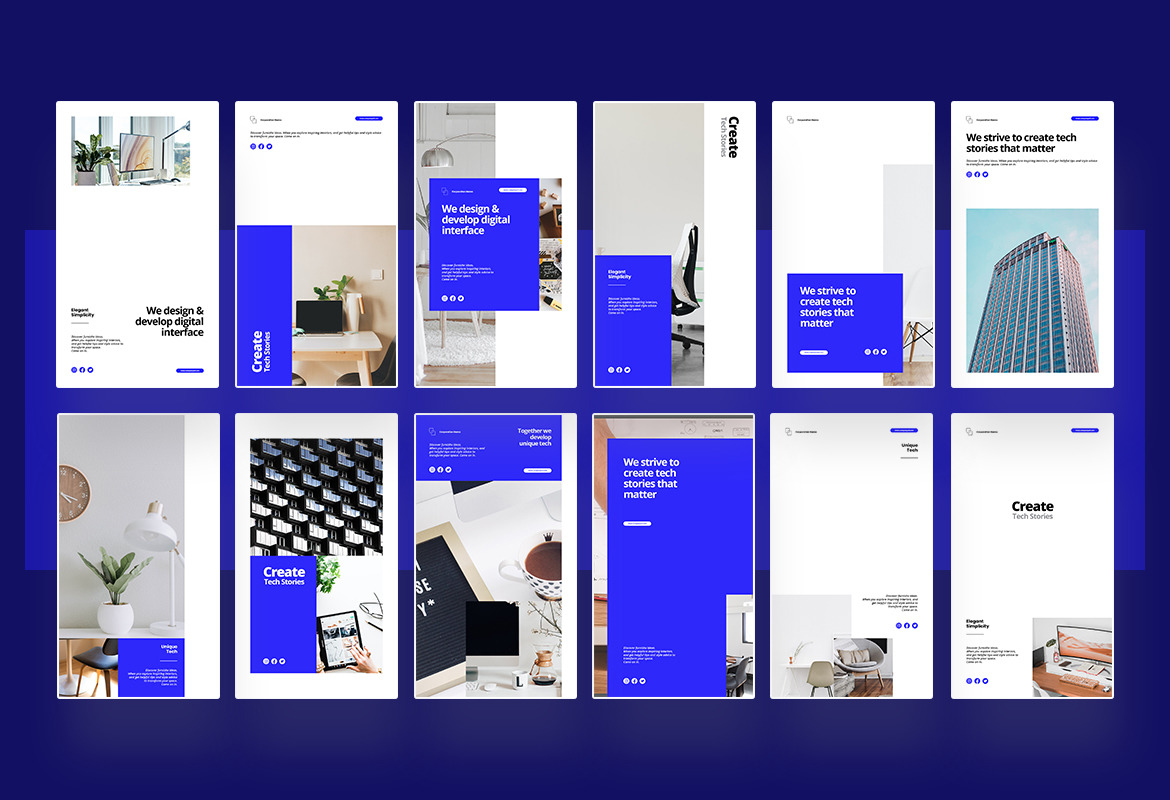Corporate Instagram Post and Story Template
