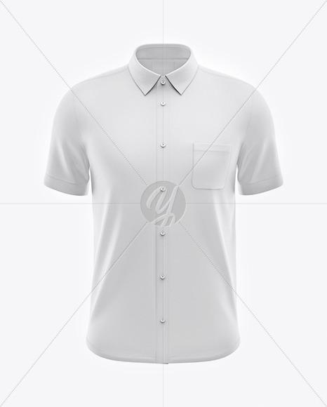 Men's Short Sleeve Shirt Mockup - Front View