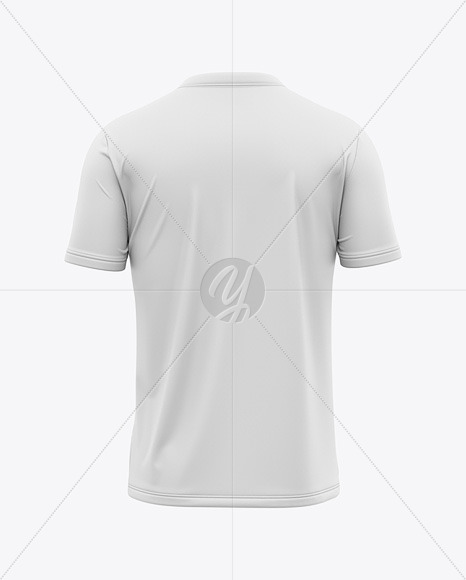 Men's V-Neck T-Shirt Mockup - Back View