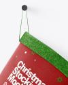 Christmas stocking Mockup