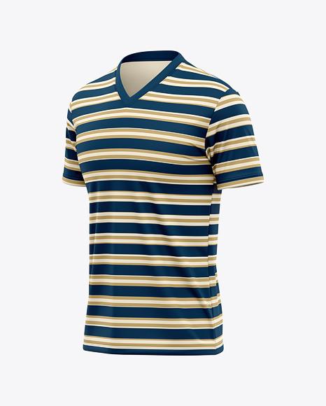 V-Neck T-Shirt Mockup