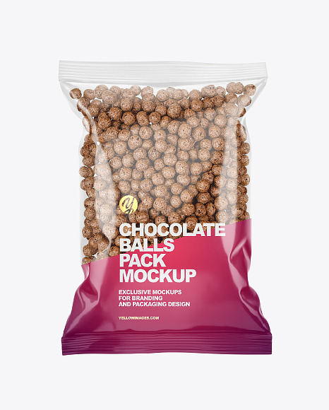 Chocolate Balls Pack Mockup
