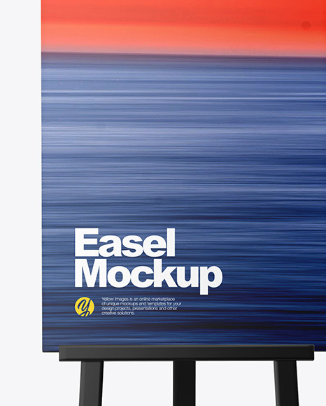 Easel With Frame Mockup
