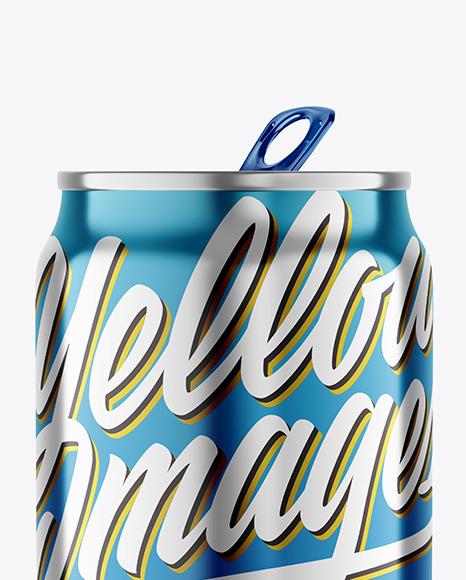 250ml Metallic Drink Can Mockup