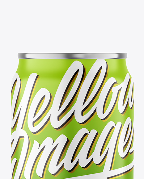 250ml Metallic Drink Can With Matte Finish Mockup