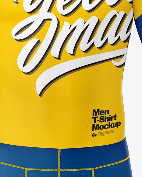 Men Compression Suit Mockup – Front View