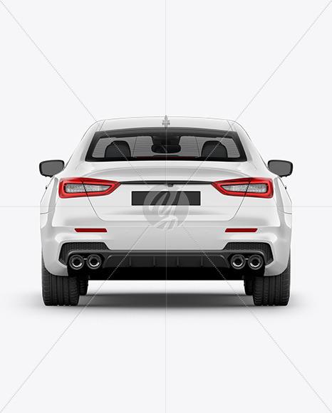 Luxury Sedan Mockup - Back View - Yellowimages Mockups