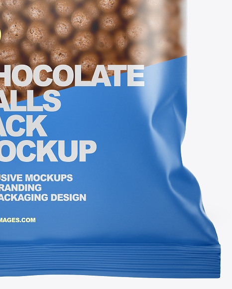 Matte Chocolate Balls Pack Mockup