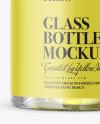 Clear Glass Olive Oil Bottle Mockup