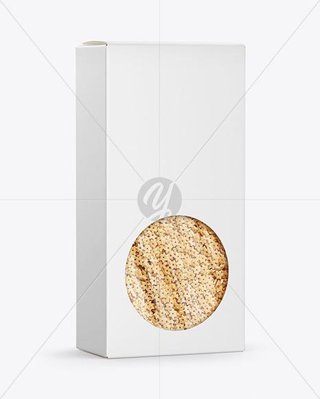 Paper Box with Stelline Pasta Mockup