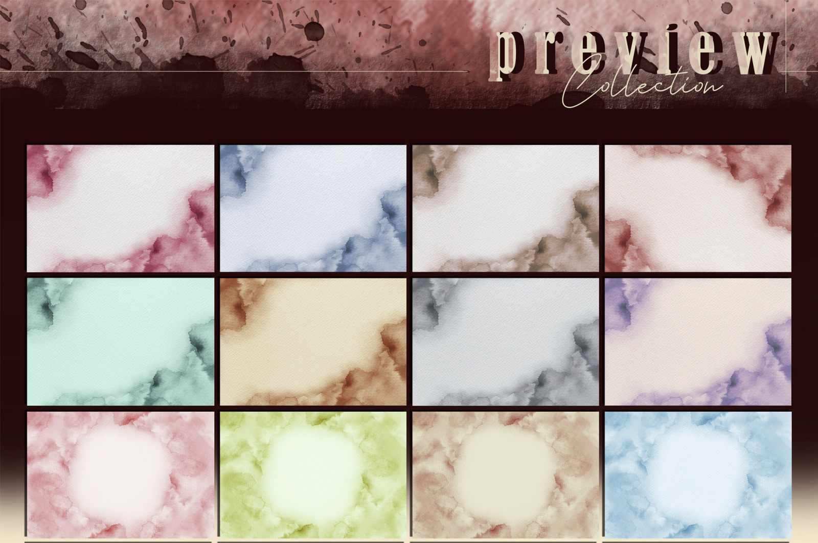 NEBULOUS Watercolor Backgrounds
