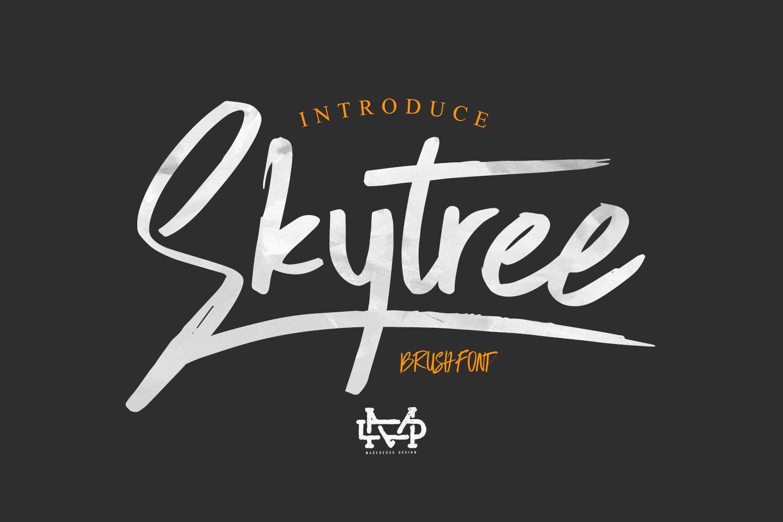 Skytree - Brush Script