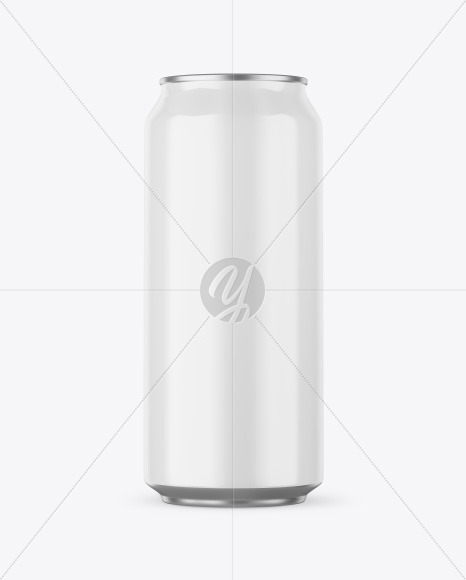 Aluminium Can With Glossy Finish Mockup