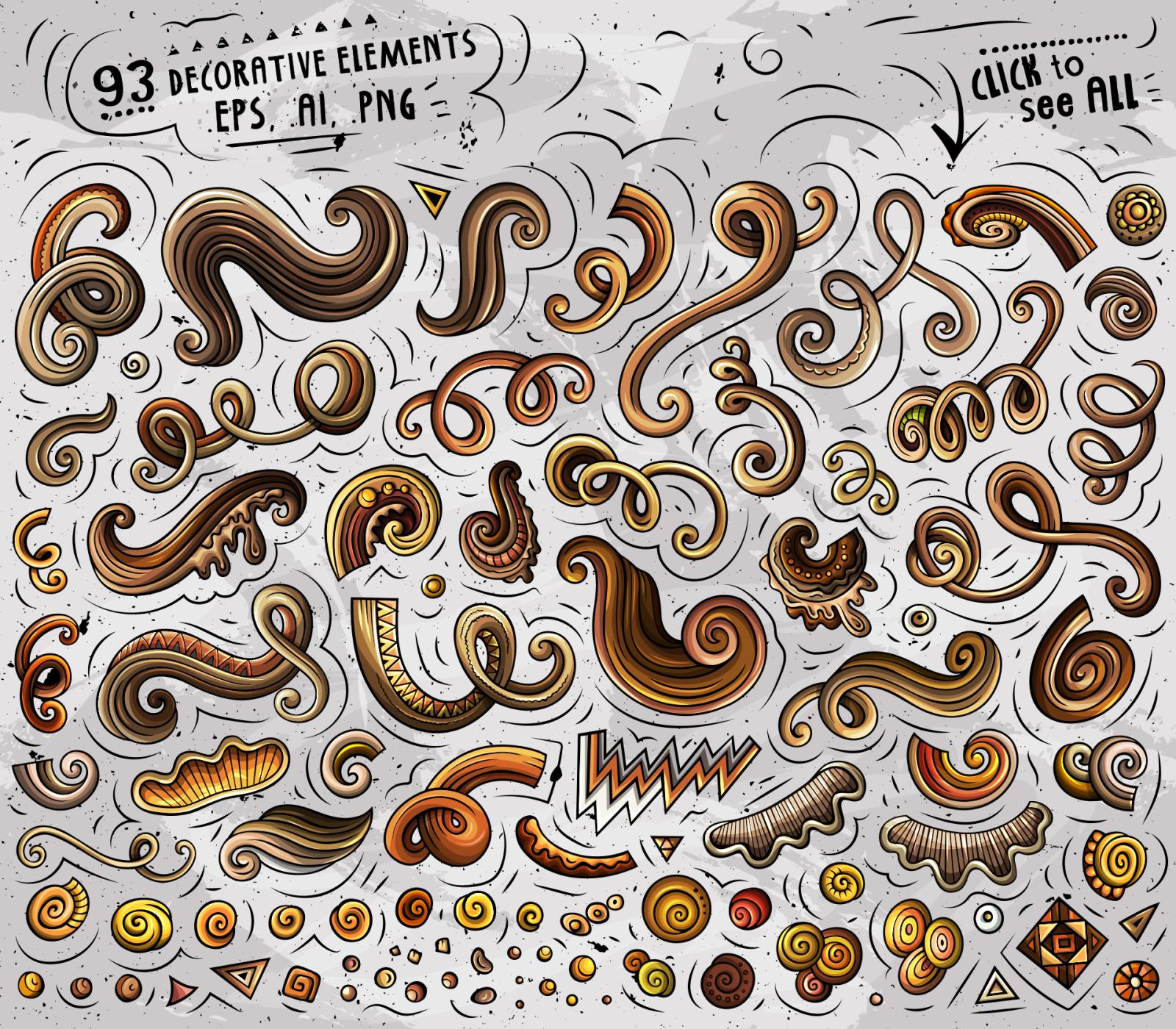 266 Coffee Cartoon Objects Set
