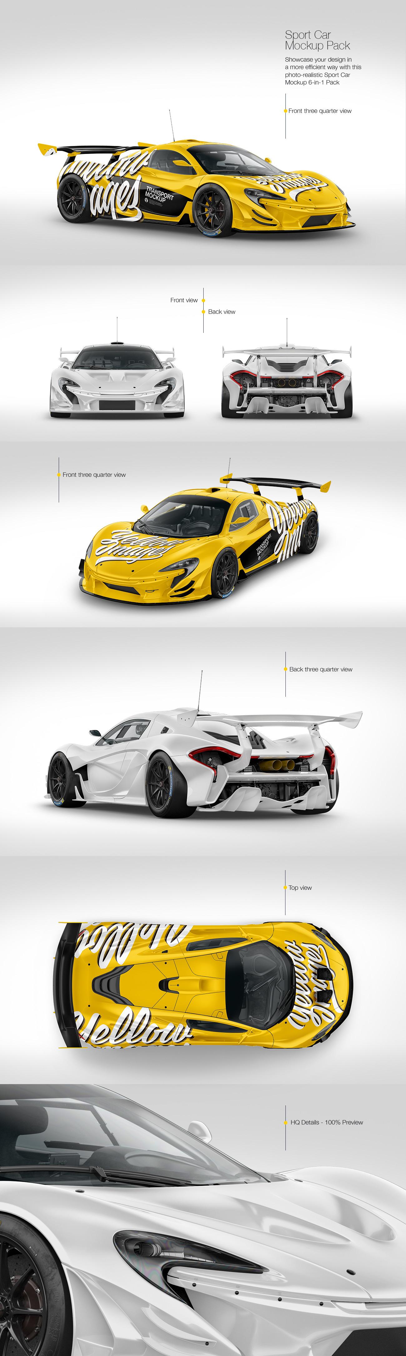 Sport Car Mockup Pack