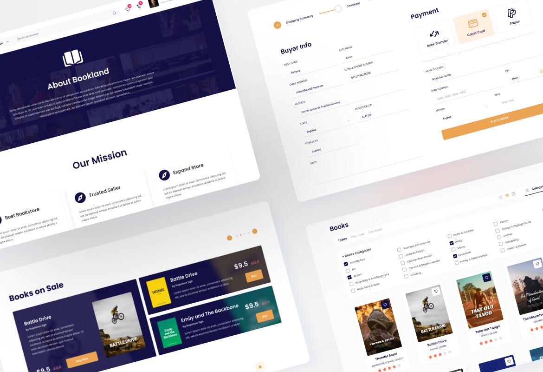 Bookland - Book Store Ecommerce Website