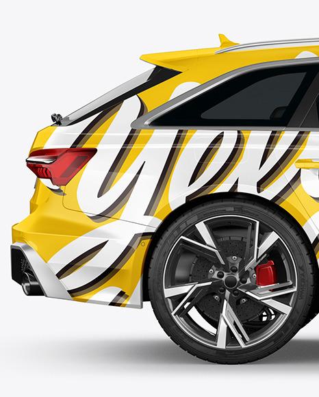 Sport Car Mockup - Side View