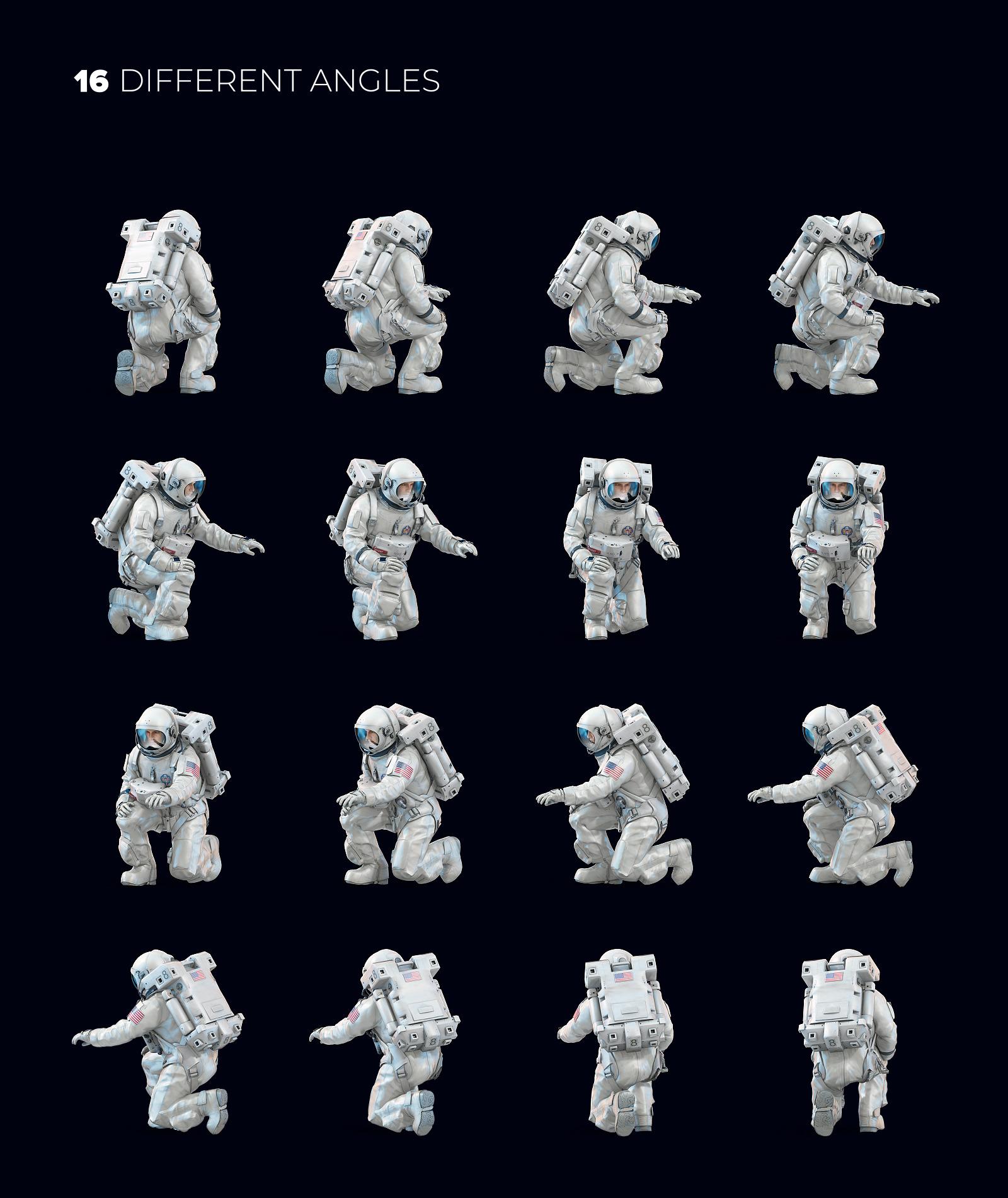 3D Mockup Space Astronaut #31