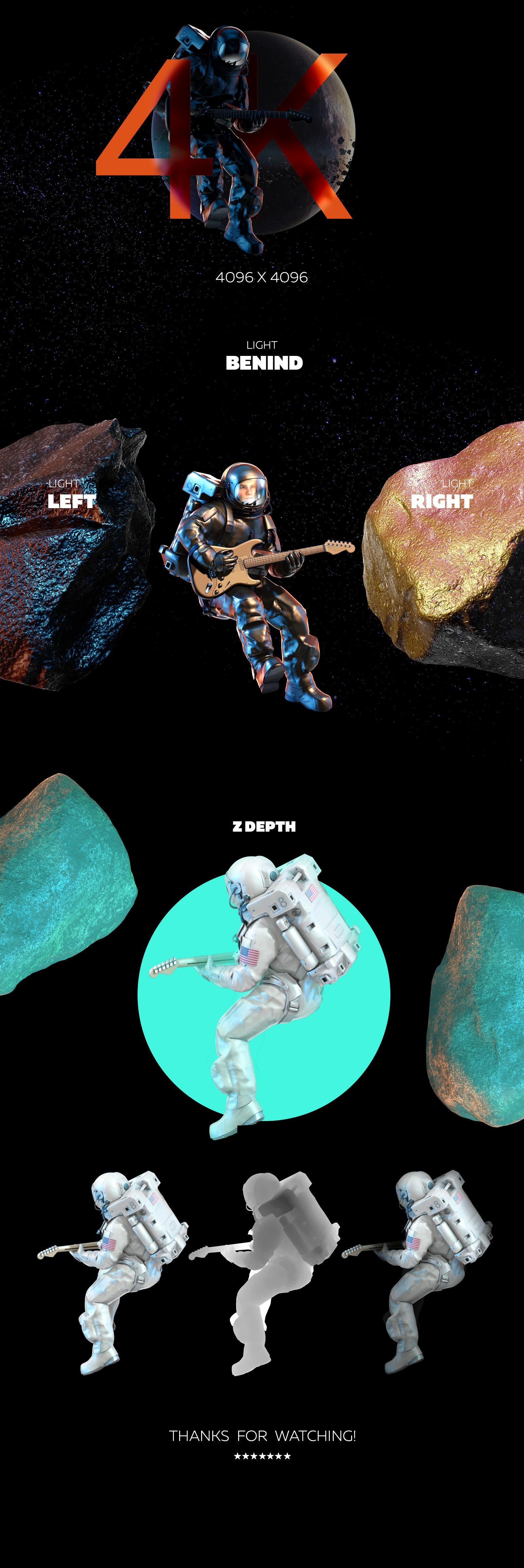 3D Mockup Space Astronaut #30