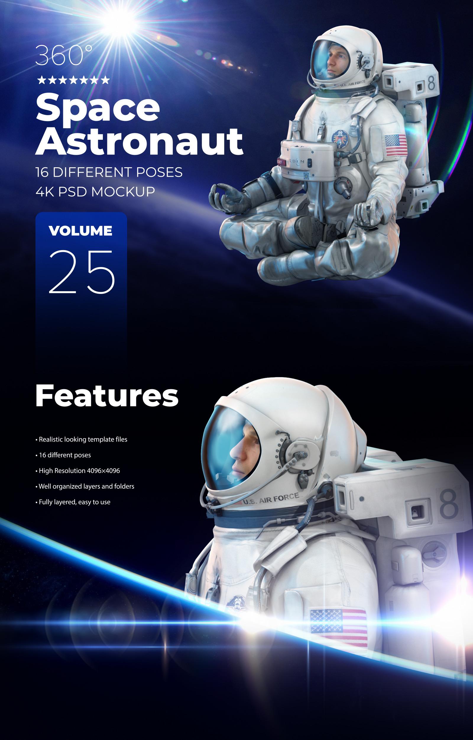 3D Mockup Space Astronaut #25