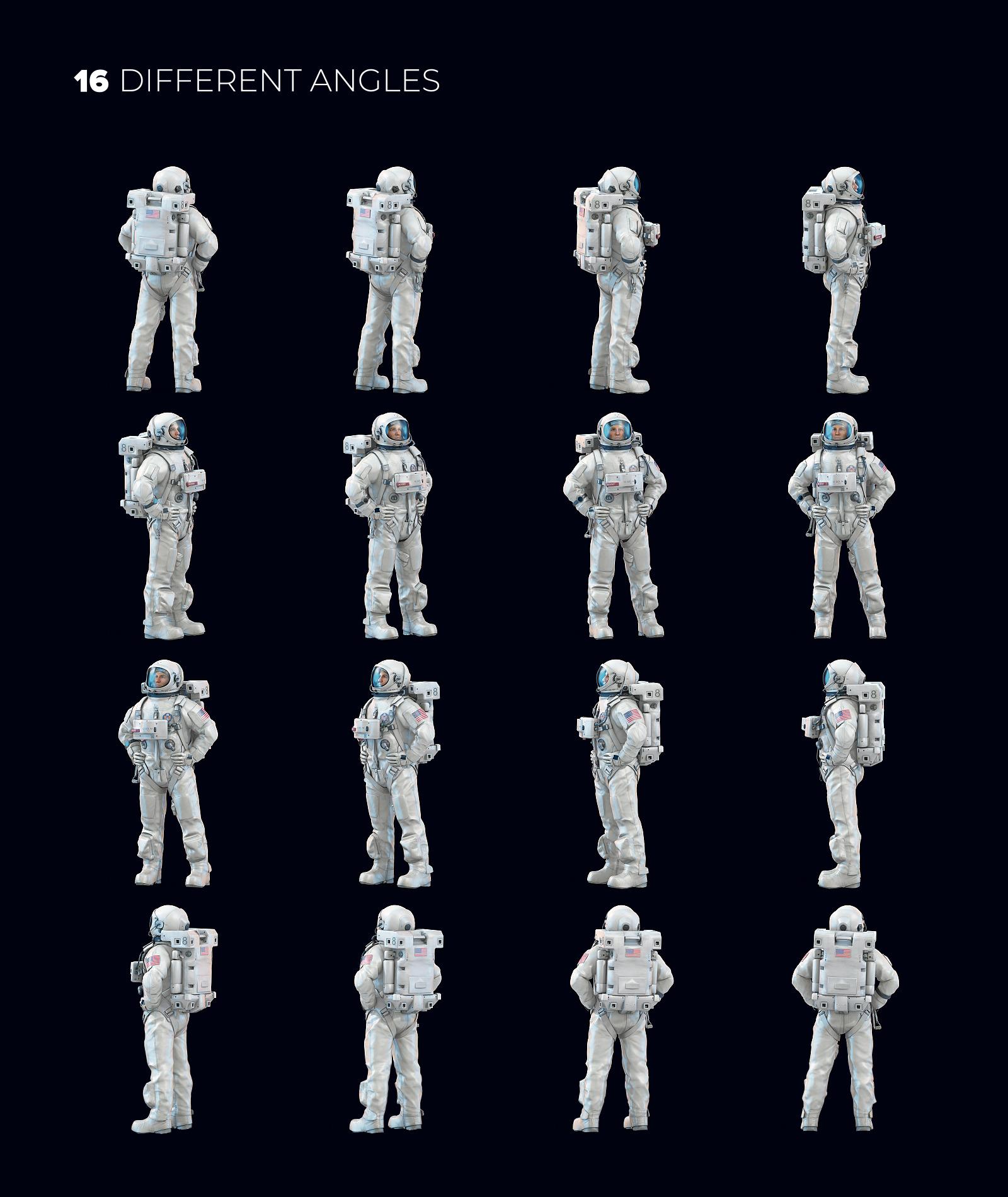 3D Mockup Space Astronaut #18