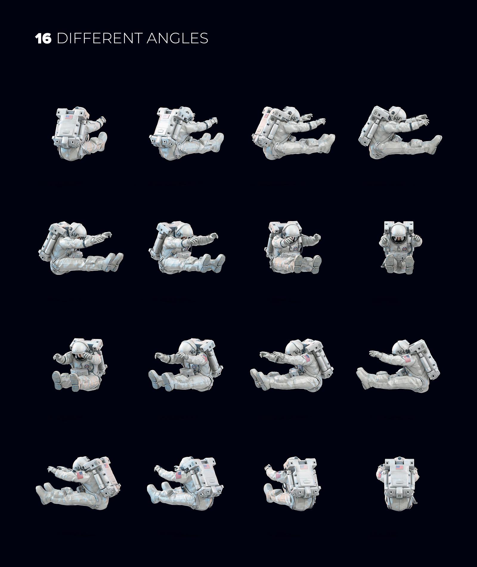 3D Mockup Space Astronaut #17