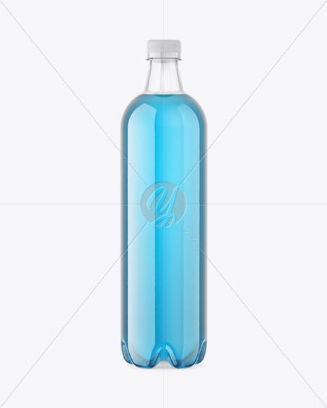Plastic Glossy Drink Bottle Mockup