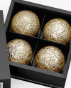 Box of Chocolates Mockup - High Angle Shot