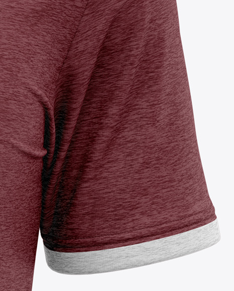 Men's Heather V-Neck T-Shirt Mockup - Front View