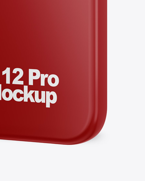 IPhone 12 Pro Case Mockup - Half Side View
