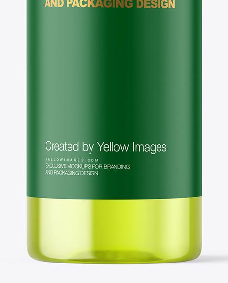 Color Plastic Cosmetic Bottle Mockup