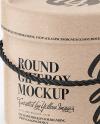 Kraft Round Box Mockup
