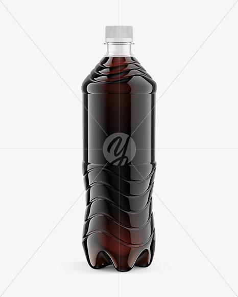 PET 1L Drink Bottle Mockup