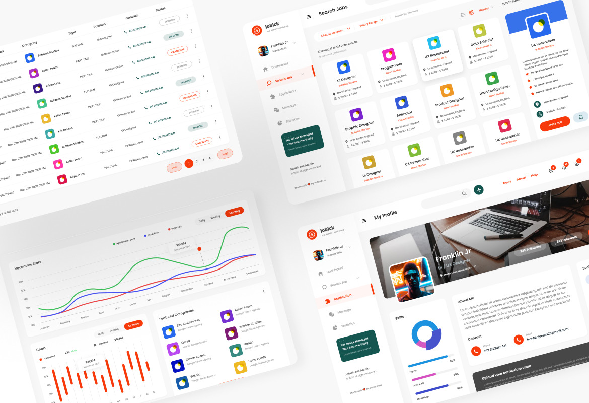 Jobick - Job Portal Admin Dashboard Template