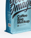 Metallic Matte Coffee Bag - Half Side View