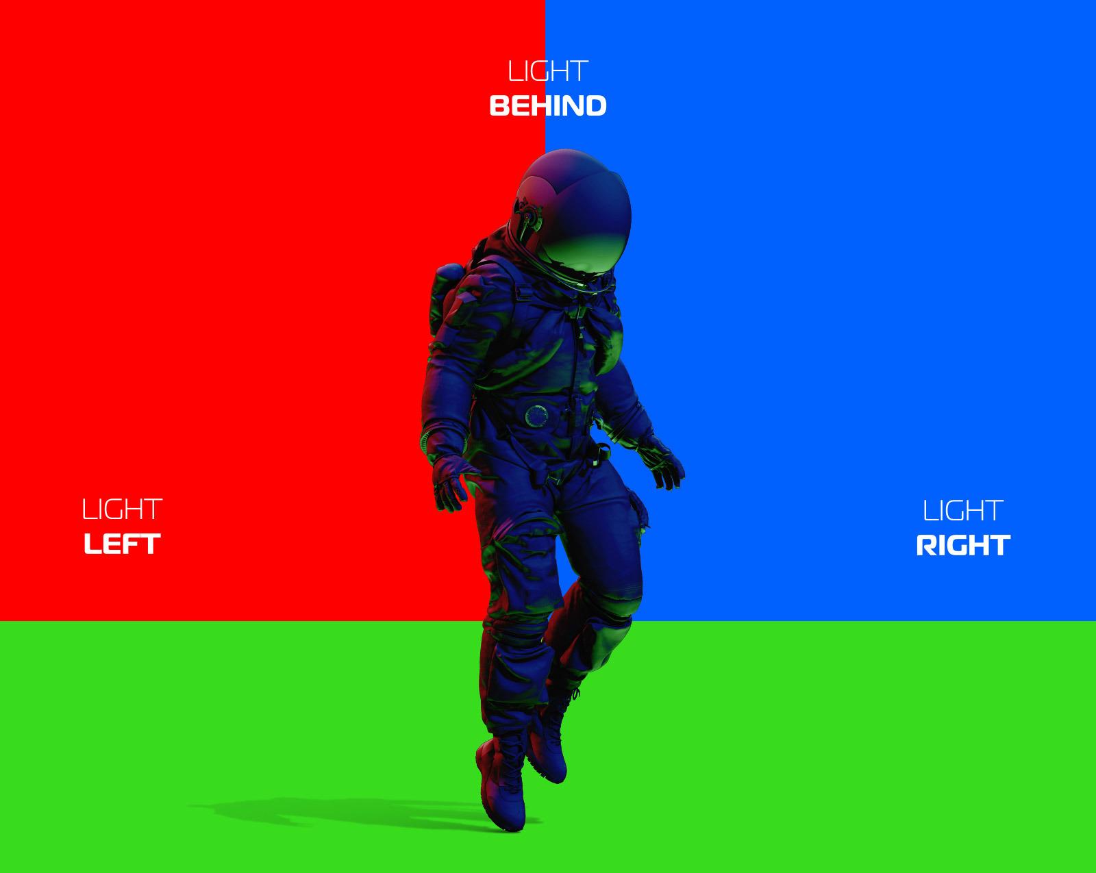 PSD Mockup 3D model NASA Astronaut #07