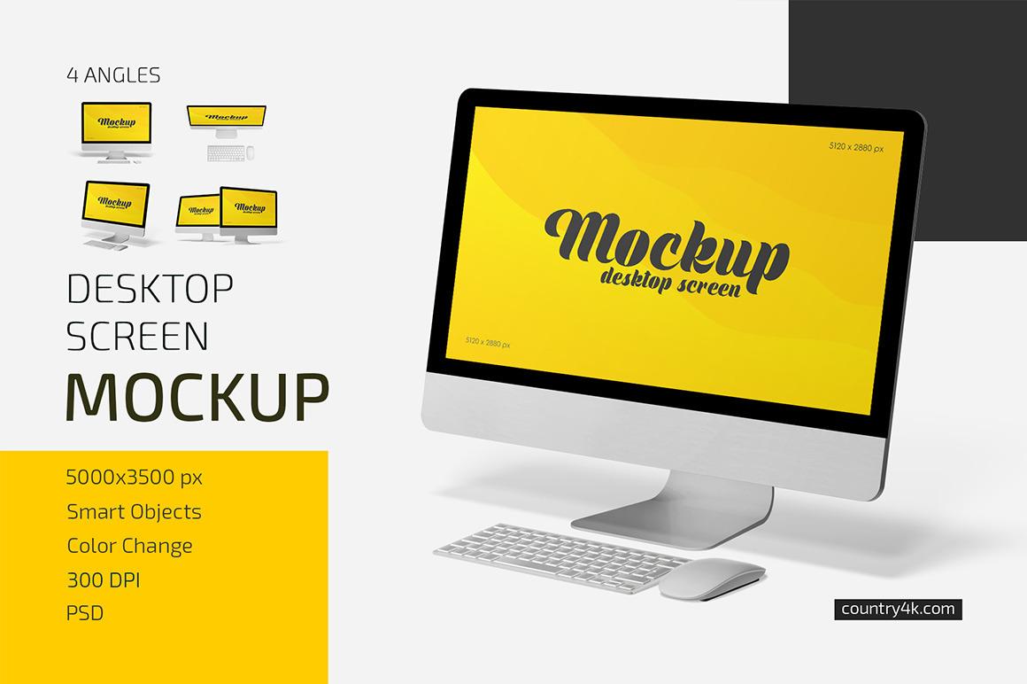 Desktop Screen Mockup Set