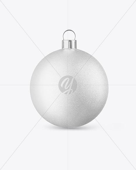 Textured Christmas Ball Mockup - Front View
