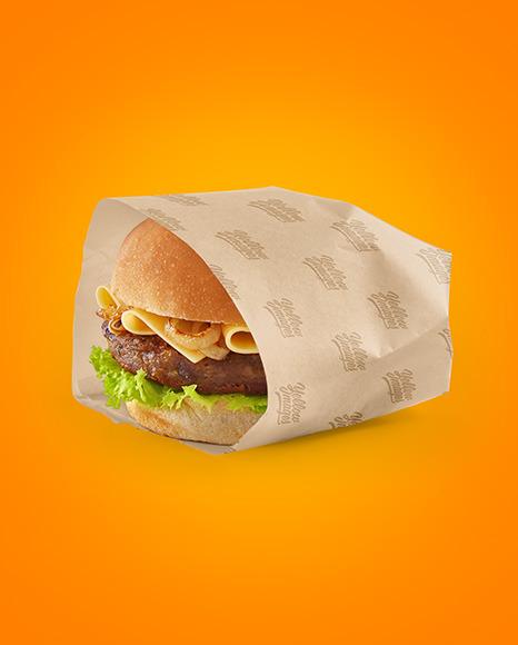 Wrapped Burger Mockup
